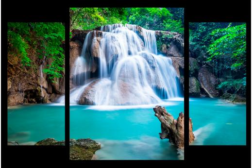 Модульная картина Красивый водопад