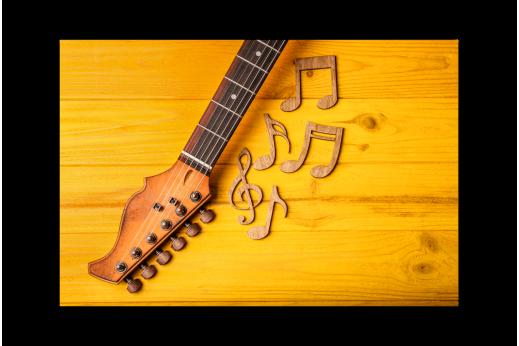Картина Гитара и ноты