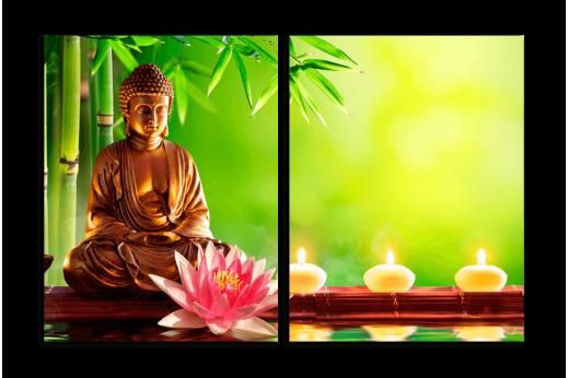 Модульная картина Будда и лотос